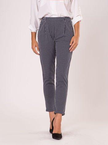 YUPS Granatowe spodnie w paski