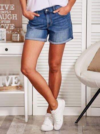 YUPS Niebieskie jeansowe szorty
