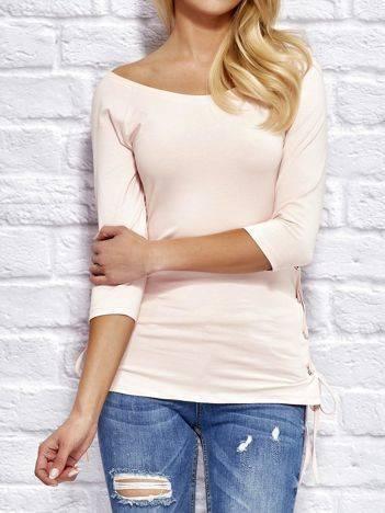 YUPS Różowa bluzka lace up