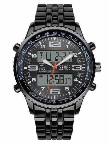 ZEMGE ZS0601 Zegarek sportowy męski Klasa wodoszczelności 3 ATM Chronograf Datownik Alarm Podświetlenie 2 Czasy