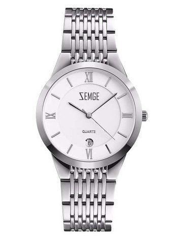 ZEMGE Zegarek damski srebrny na bransolecie Eleganckie pudełko prezentowe w komplecie