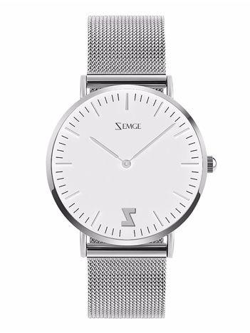 ZEMGE Zegarek damski srebrny na bransolecie typu MESH Eleganckie pudełko prezentowe w komplecie