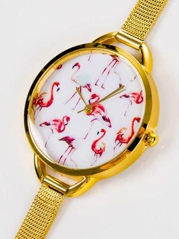 Zegarek damski FLAMINGI z bransoletą typu MESH HIT !