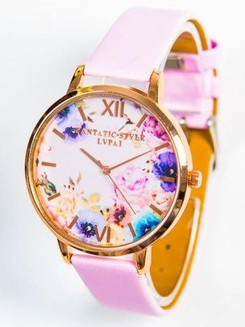 Zegarek damski KWIATY różowy