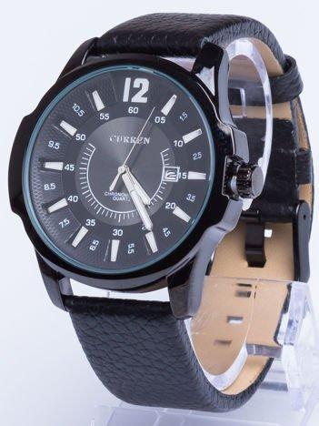Zegarek męski z datownikiem czarny