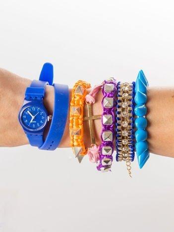Zestaw 5 modnych bransoletek i silikonowy zegarek