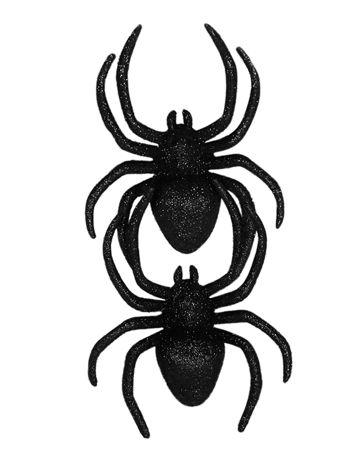 Zestaw czarnych brokatowych pająków 2 sztuki