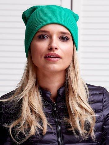 Zielona czapka beanie