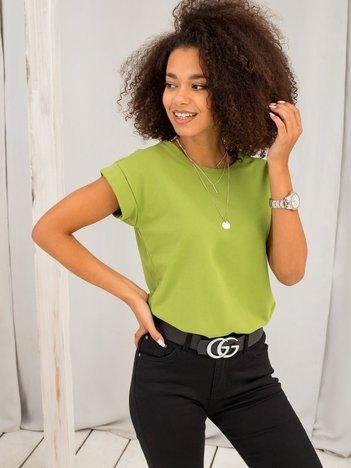 Zielona koszulka z bawełny Level