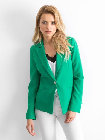 Zielona marynarka Silky