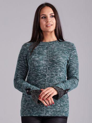 Zielona melanżowa bluzka damska