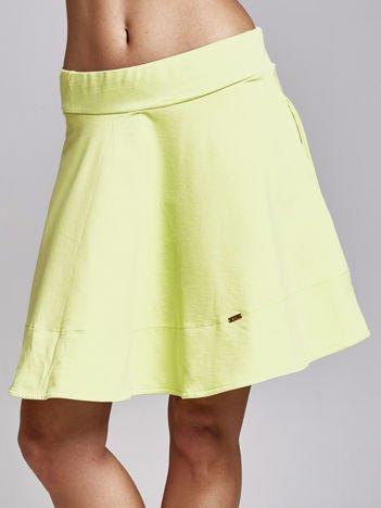 Zielona spódnica dresowa skater