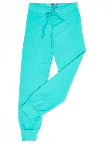 Zielone dresowe spodnie dziecięce