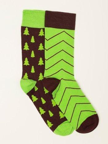 Zielone skarpety męskie we wzory
