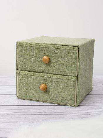 Zielony organizer z szufladkami