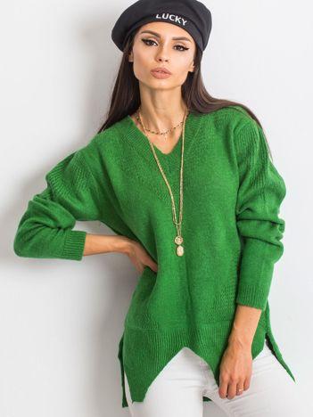 Zielony sweter Believe