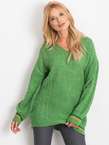 Zielony sweter Romance