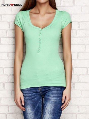 Zielony t-shirt w prążki FUNK N SOUL