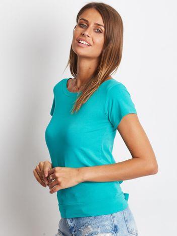 Zielony t-shirt z wiązanym tyłem