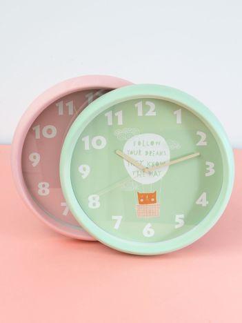 Zielony zegar ścienny