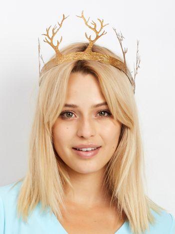Złota korona z rogami
