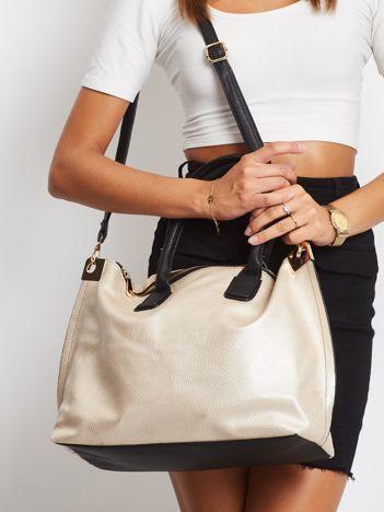 Złota torba shopper