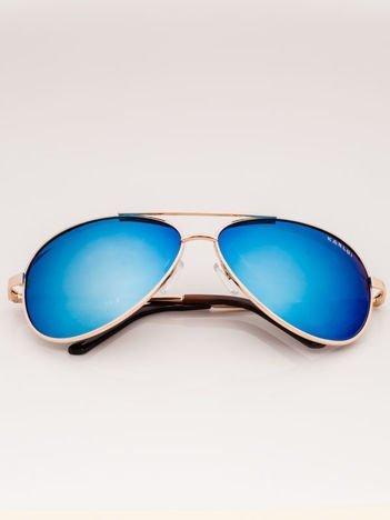 Złote PILOTKI AVIATORY Okulary Przeciwsłoneczne Z Systemem FLEX Na Zausznikach