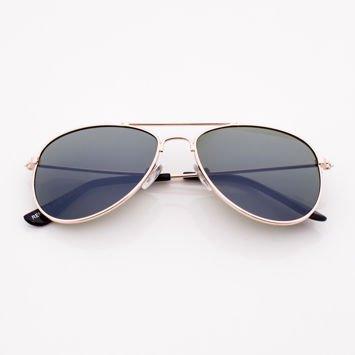 Złote PILOTKI AVIATORY  stylowe okulary dzieciece z filtrami UV