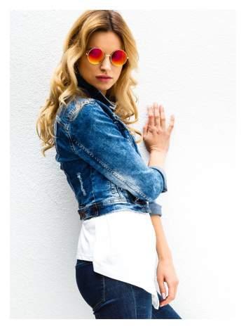 Złote okulary przeciwsłoneczne LENONKI lustrzanki