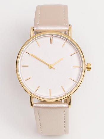 Złoty Zegarek Damski Z Wytłaczaną Tarczą