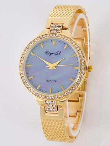 Złoty zegarek damski na bransolecie
