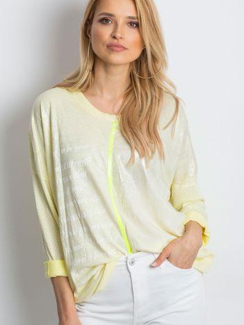 Żółta bluzka Polarising