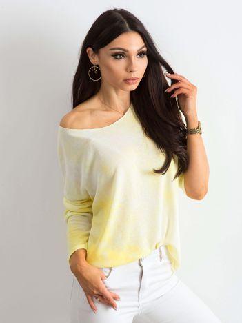 602c589008 Żółta bluzka damska z długim rękawem
