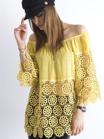 Żółta bluzka hiszpanka