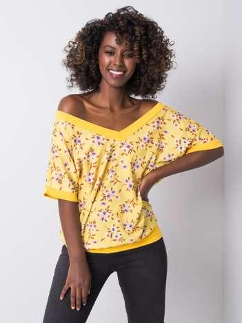 Żółta bluzka w kwiaty Leni