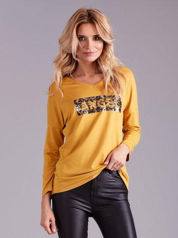 Żółta bluzka z cekinami