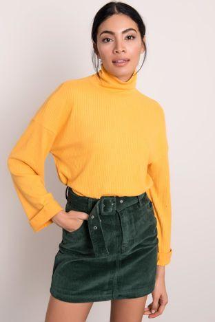 Żółta bluzka z golfem BSL