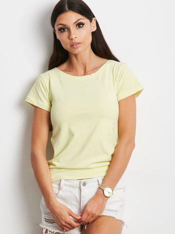 Żółta bluzka z wiązanym tyłem
