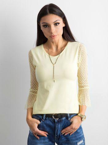 Żółta damska bluzka