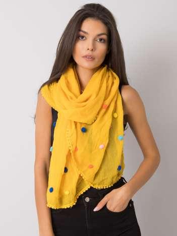 Żółta damska chusta z wiskozy