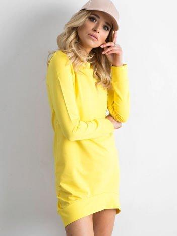 Żółta dresowa tunika basic