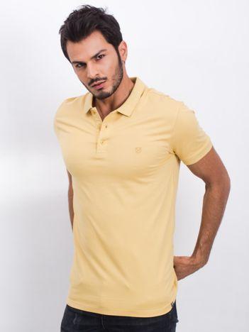 Żółta koszulka polo Coastal