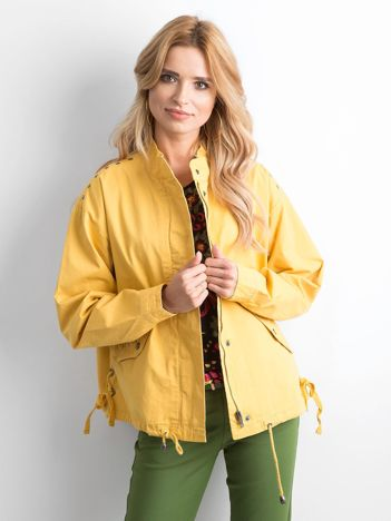 Żółta kurtka oversize