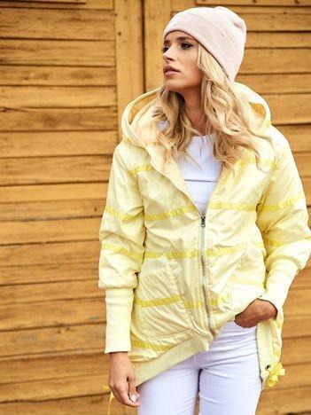 Żółta kurtka z szerokimi ściągaczami