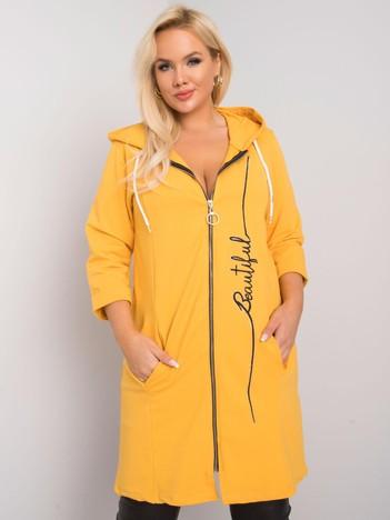Żółta rozpinana bluza plus size Victoria