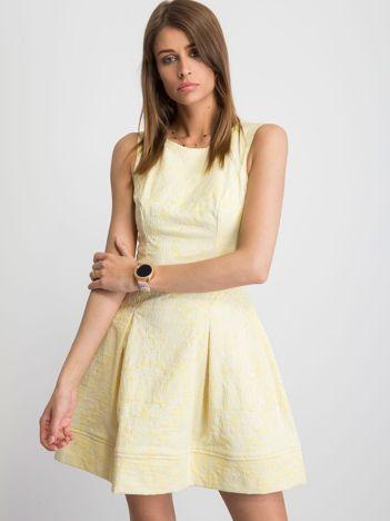 Żółta sukienka Babydoll