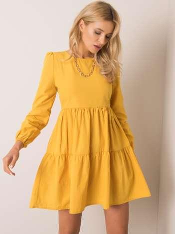Żółta sukienka Bless RUE PARIS