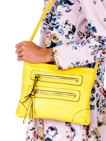Żółta torebka z kieszeniami