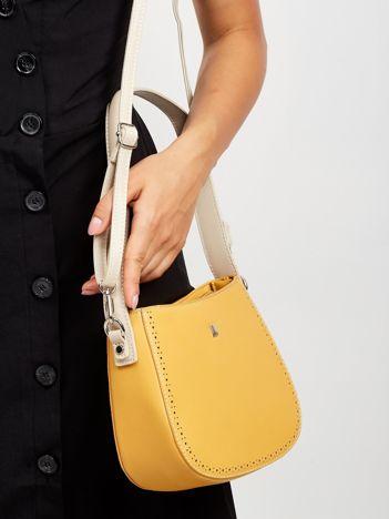 Żółta torebka z odpinanym paskiem
