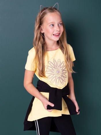 Żółta tunika dla dziewczynki
